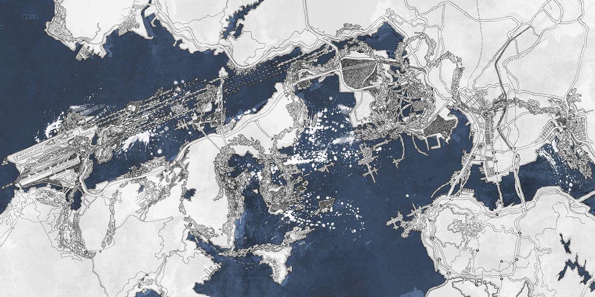 Вопрос времени и места  Аэроценоз проектная концепция воздушной трассы в Гонконге ГКА автор Анна Андронова курсовая работа студия tiarch КГАСУ руководители Ахтямов И